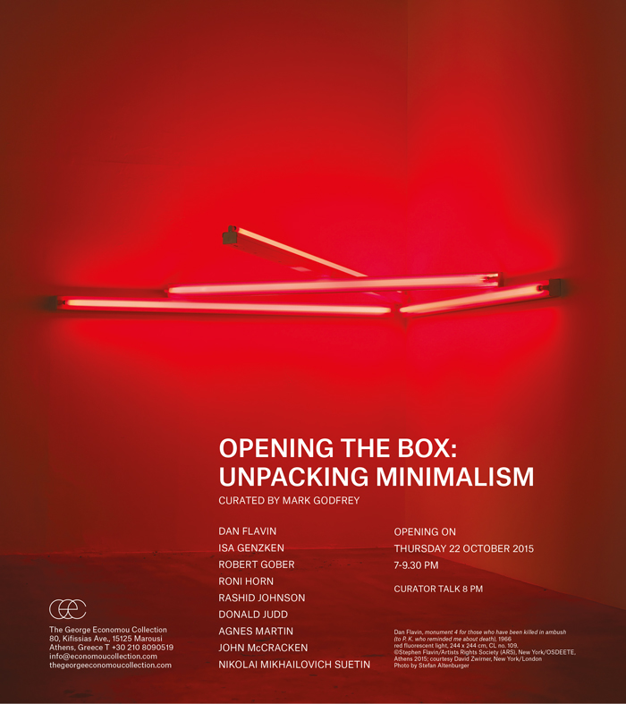 OPENING THE BOX: UNPACKING MINIMALISM / The George Economou Collection