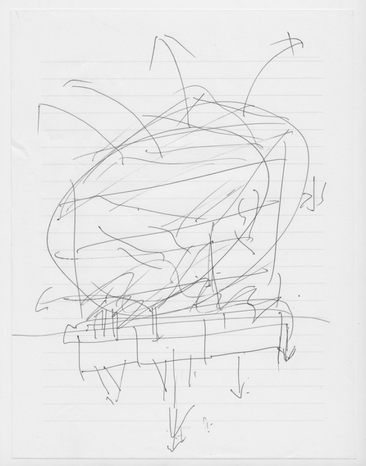 Drawing by a former resident of the Fukushima Daiichi Nuclear Power Plant disaster