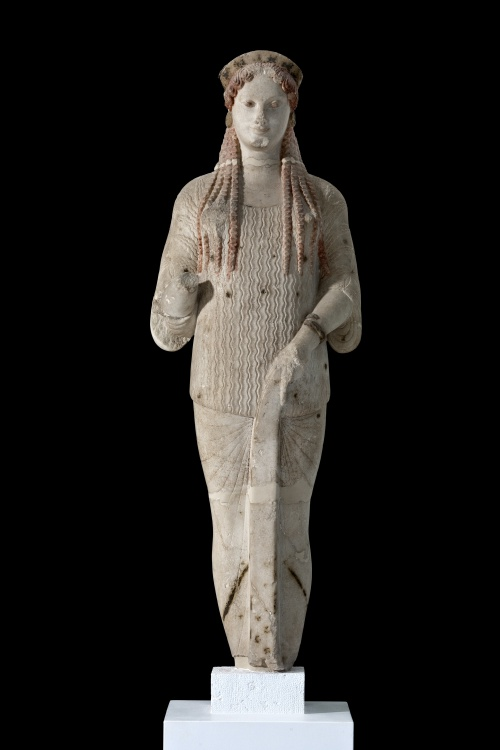 Statue of a Kore Marble, 520-510 BC, from the Acropolis of Athens. Acropolis Museum, Athens, inv. no. Acr.670 © Hellenic Ministry of Culture and Sports –Archaeological Receipts Fund, Photography Socratis Mavrommatis