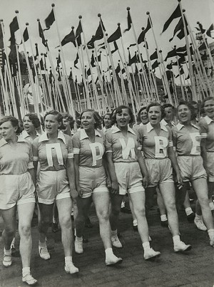 Alexander Rodchenko, Sports Parade on Red Square, 1936. Gelatin silver print, 11 5/8 × 8 7/8 in. (29.6 × 22.6 cm). Sepherot Foundation, Vaduz, Liechtenstein.