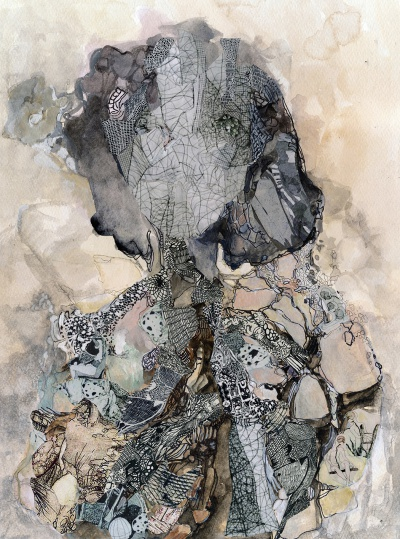 Sofia Papadopoulou, ''La Personne 4'', 62x52cm, μικτή τεχνική