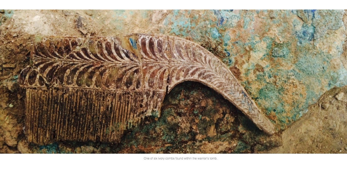 Bronze Age warrior's tomb discovered in southwestern Greece