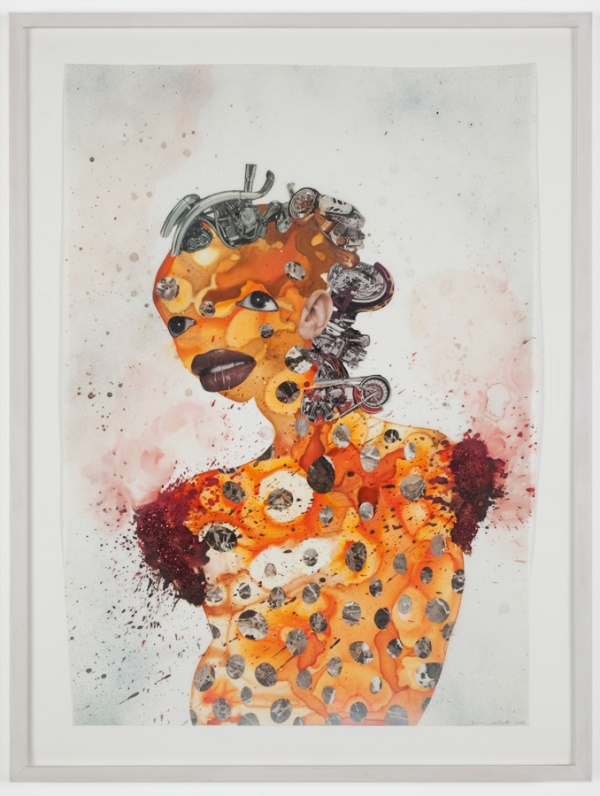 Wangechi Mutu, Untitled, Collage on mylar, 2004.