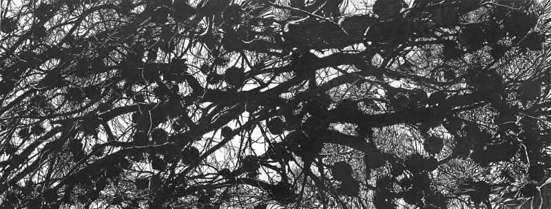 ANTIGONI KAVVATHA, Untiteled,  2015, 0.61X1.30m, acrylics on mylar