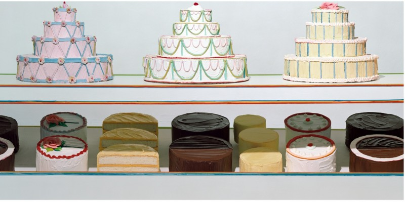 """Cake Counter,"" from the series Thiebauds,"" 37"" x 72,"" C-print, 2003"