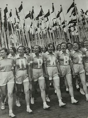 Alexander Rodchenko, Sports Parade on Red Square, 1936. Gelatin silver print, 11 5/8 × 8 7/8 in. (29.6 × 22.6 cm). Sepherot Foundation, Vaduz, Liechtenstein.